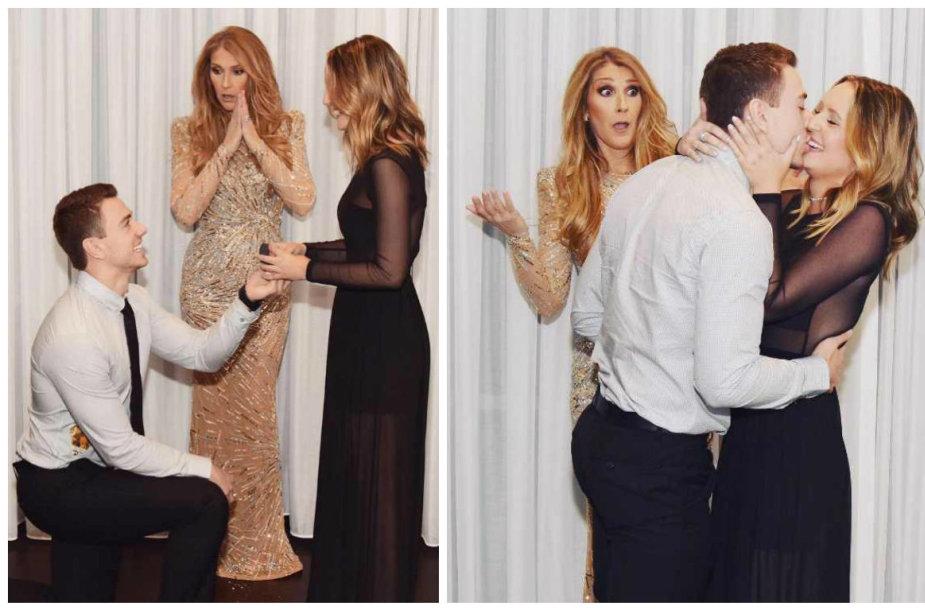 Celine Dion tapo savo gerbėjų sužadėtuvių liudininke