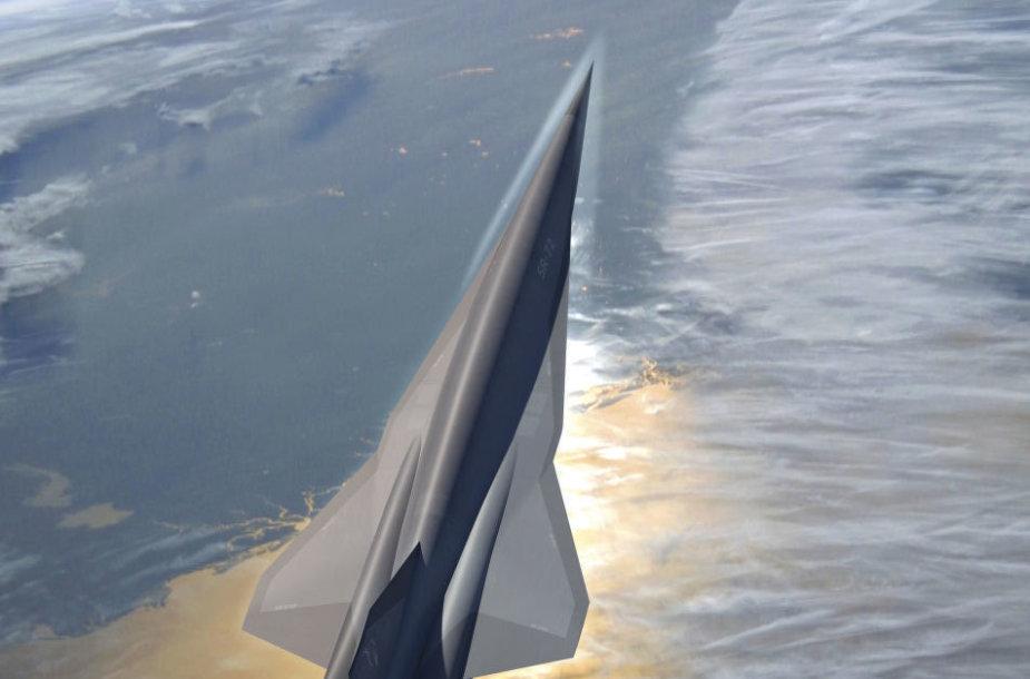 SR-72 hipergarsinio lėktuvo koncepcija