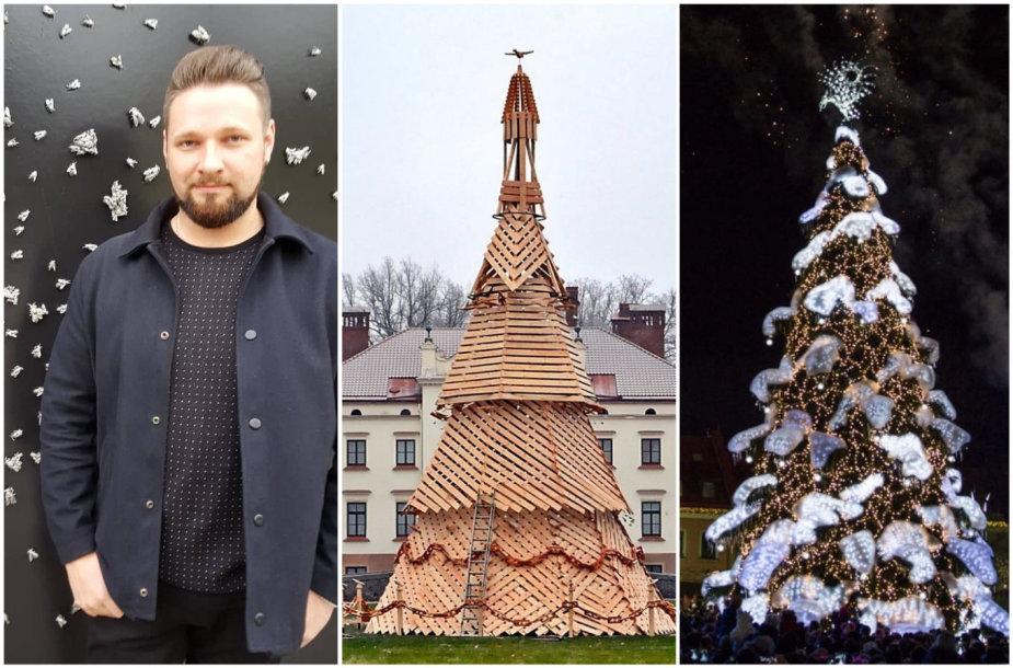Floristas A.Plindinas, Rokiškio ir Kauno Kalėdų eglės