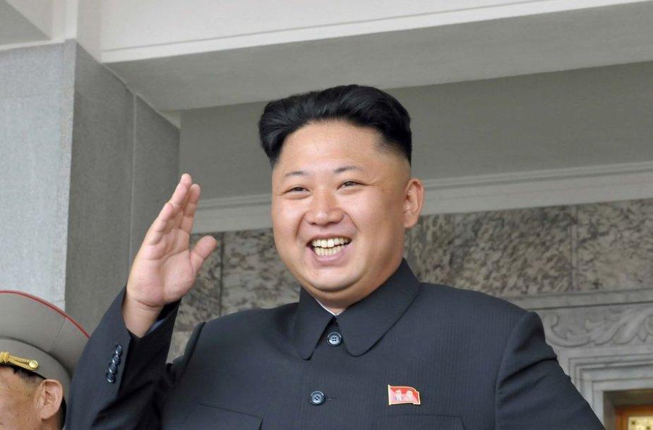 Šiaurės Korėjos lyderis Kim Jong-unas