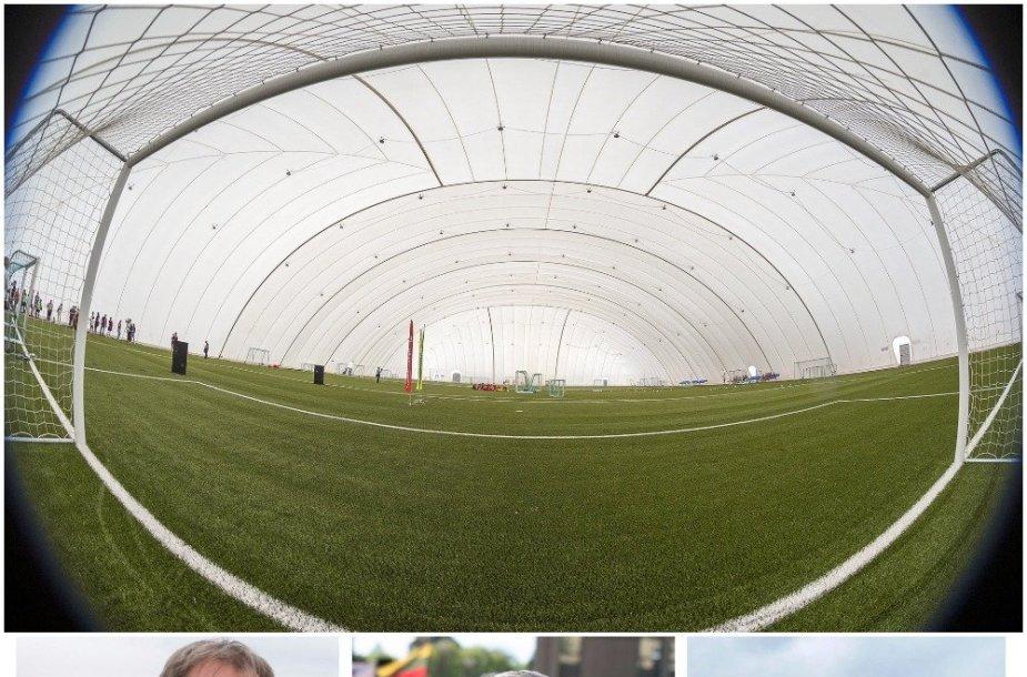 Pilaitėje atidarytas futbolo aikštynas, bet iniciatyvių žmonių ten nebuvo.