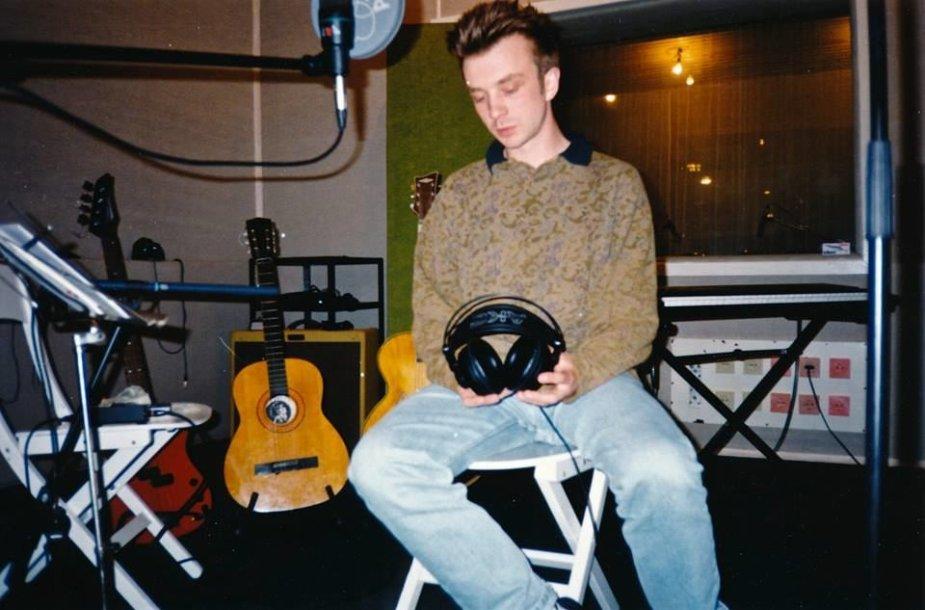 """Andrius Mamontovas LNK studijoje. Įrašinėjant """"Pabėgimą"""""""
