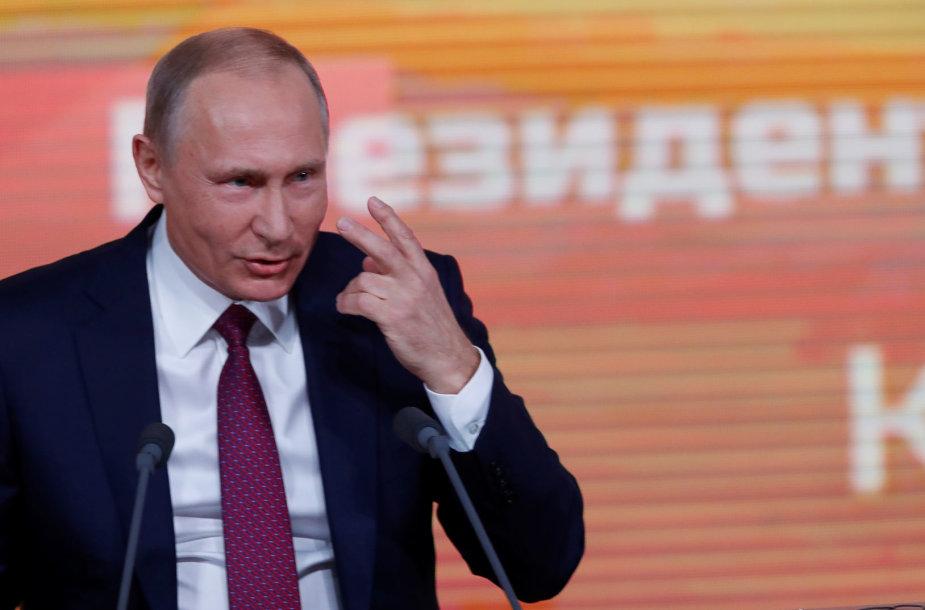 Kasmetinė V.Putino spaudos konferencija