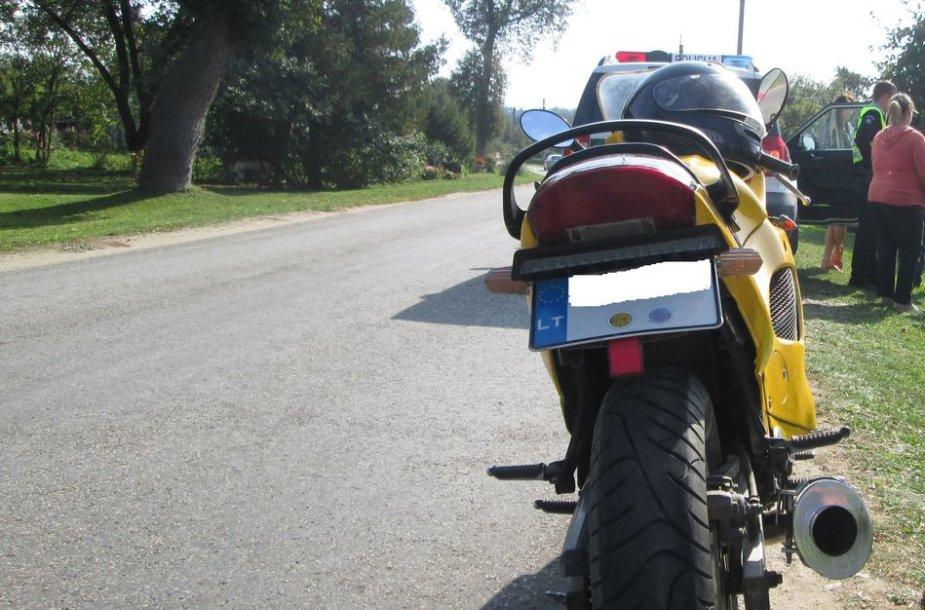 Sulaikytas motociklas