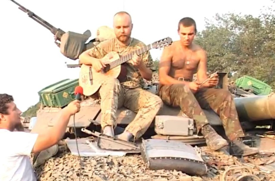 Ukrainietis Antonas tarnauja 12-ame Kijevo savanorių batalione.