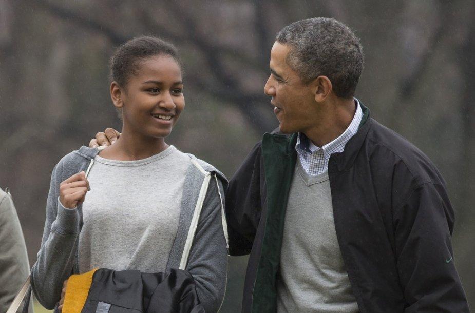 Barackas Obama su dukra Sasha