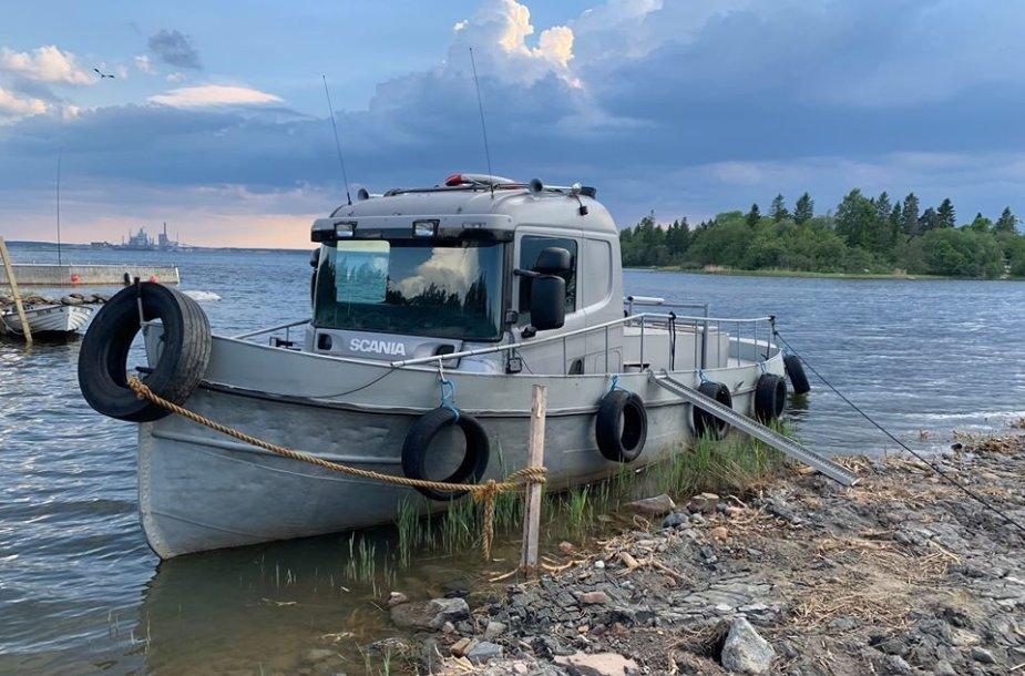 """Scania"" kabina žvejybos laive"