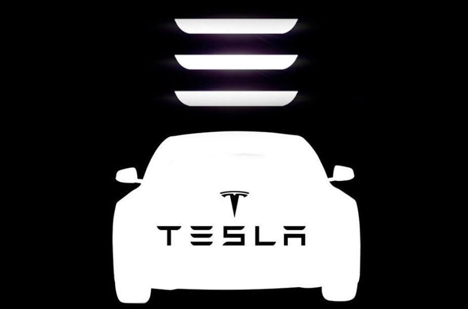 """Tesla Model 3"" logotipas (apkaltintas plagiatu)"