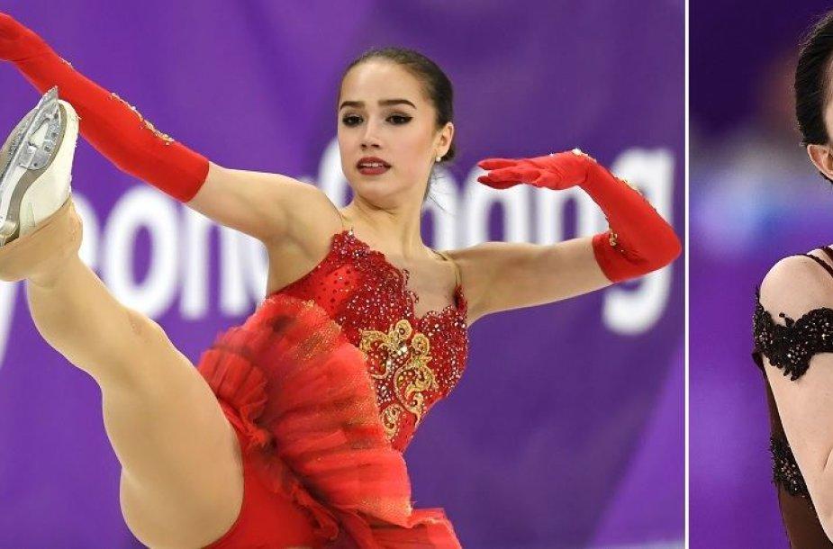 Alina Zagitova įveikia savo tautietę Jevgeniją Medvedevą