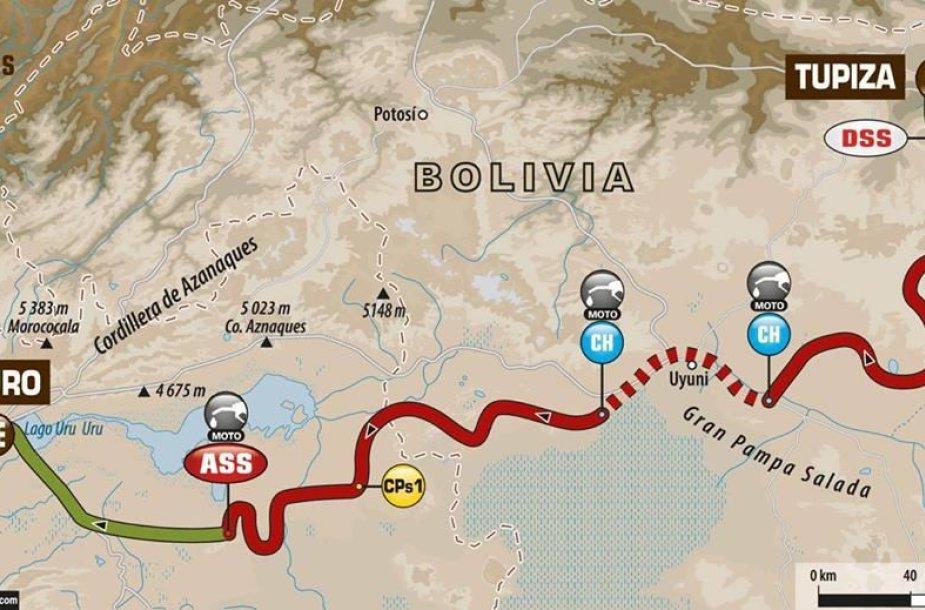 5-as Dakaro greičio ruožas iš Tupizos į Orurą