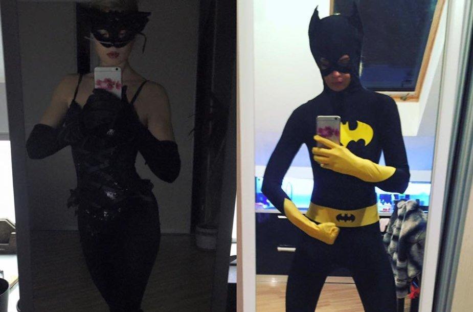 Jolanta Leonavičiūtė su Helovino kostiumais