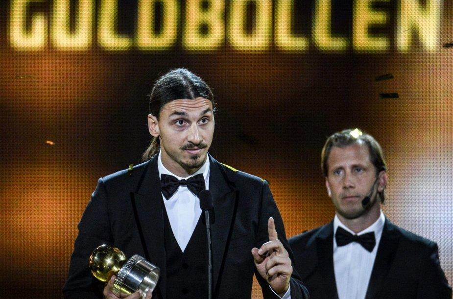 Zlatanas Ibrahimovičius apdovanojimų ceremonijoje