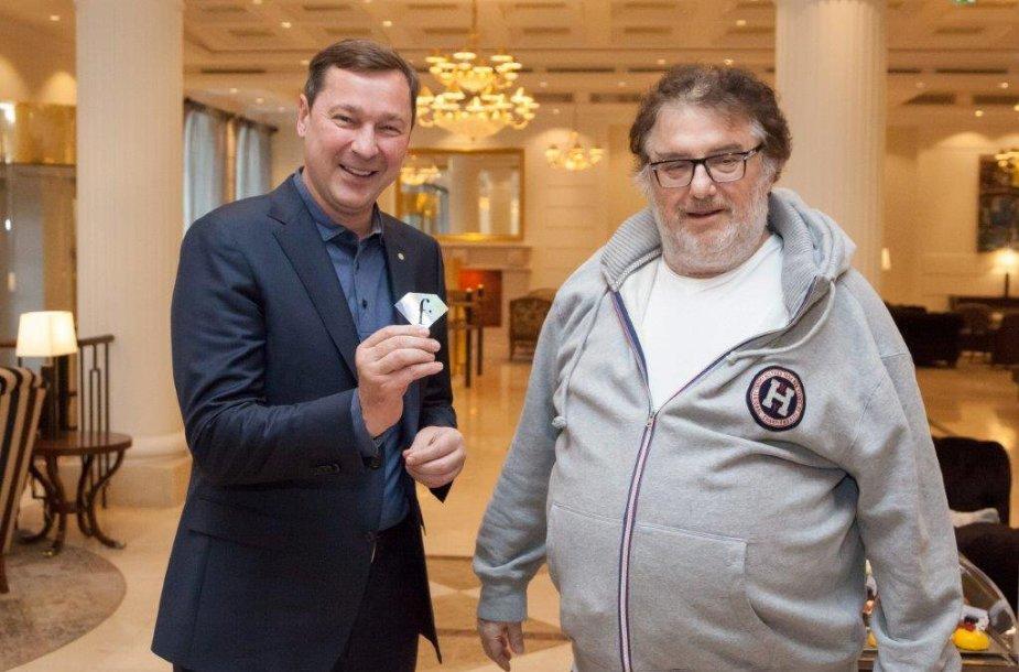 """Vilniuje apsilankė mados televizijos """"Fashion TV"""" įkūrėjas ir prezidentas Michelis Adamas Lisovskis. Vilniaus sav. nuotr."""