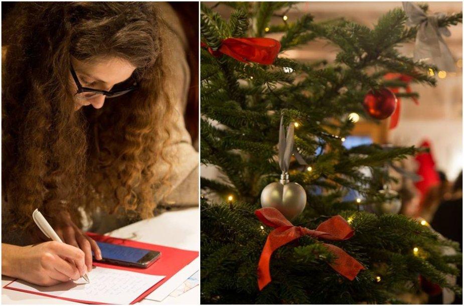 Kalėdinių sveikinimų rašymas senoliams