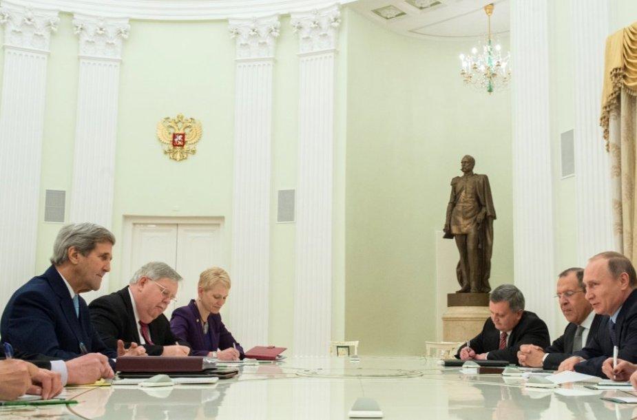 JAV ir Rusijos delegacijų susitikimas