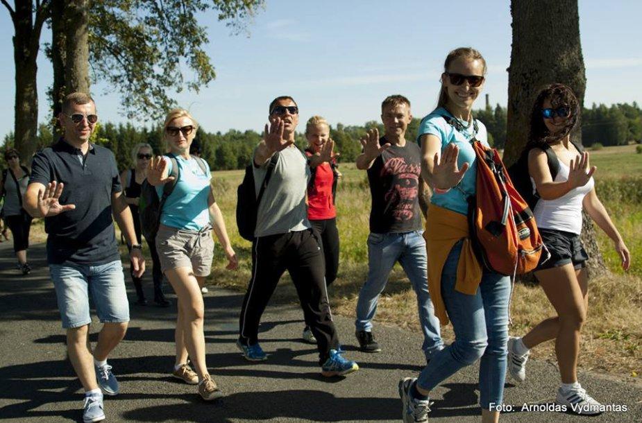 Labdaringame žygyje aplink Šilutę dalyvavę žygeiviai surinko beveik 2 tūkst. eurų.