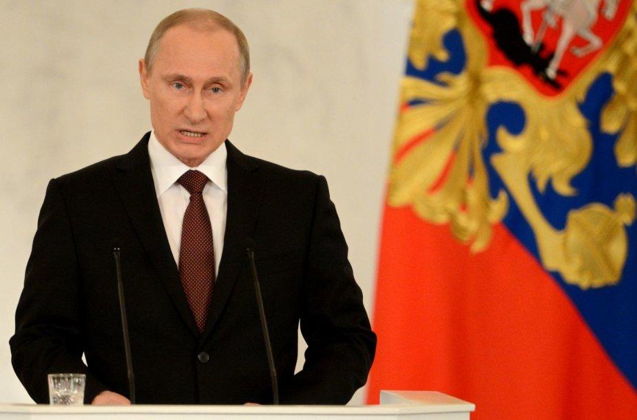 Vladimiras Putinas kreipėsi į parlamentą.