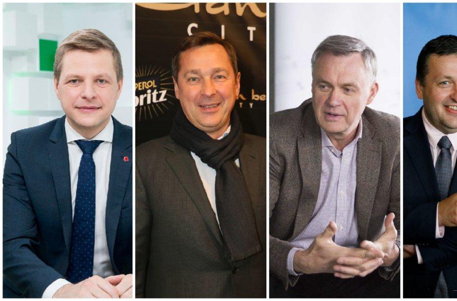 Remigijus Šimašius, Artūras Zuokas, Robertas Dargis ir Antanas Guoga