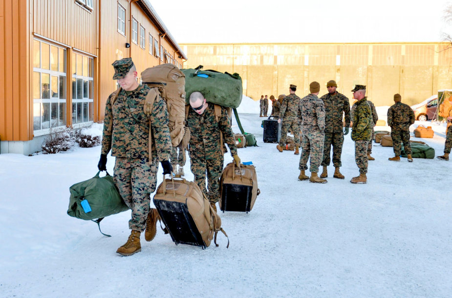 JAV jūrų pėstininkai Norvegijoje