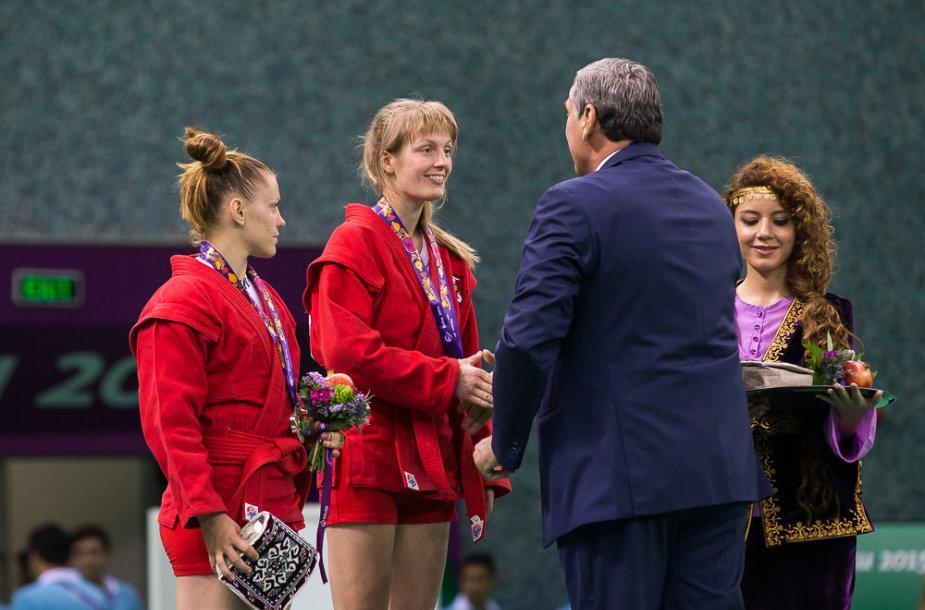 Sambo imtynininkė Rūta Aksionova iškovojo Europos žaidynių bronzos medalį