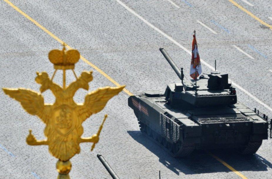 """T-14 """"Armata"""". Karinis paradas Maskvos Raudonojoje aikštėje"""
