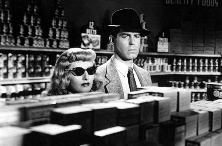 "Film noir etalonu laikoma Billio Wilderio juosta ""Dviguba kompensacija"" (Double Indemnity,1944)."