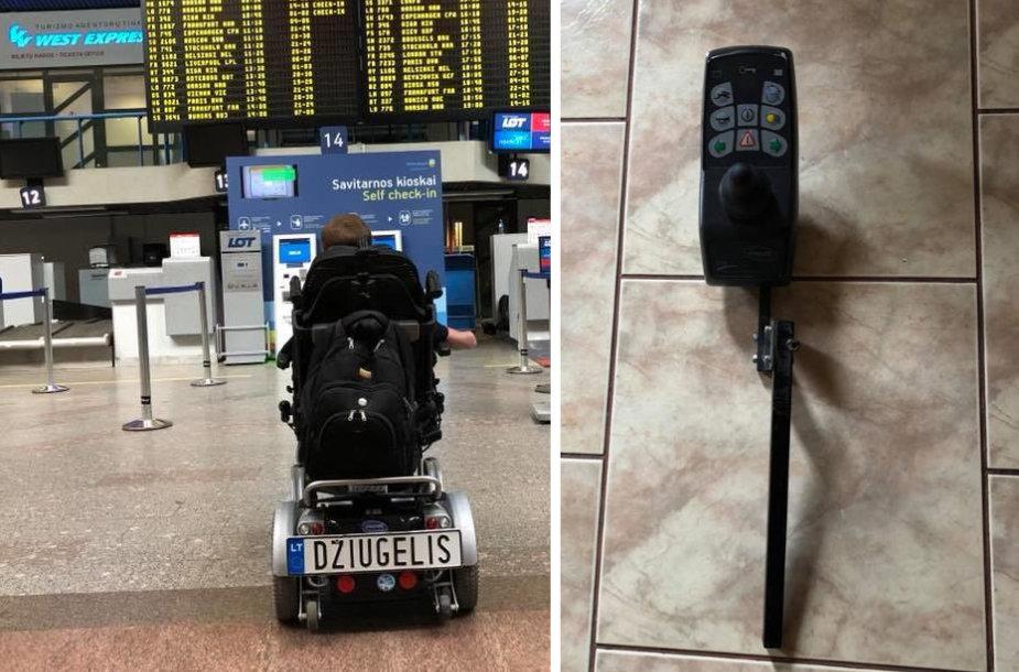 Justas Džiugelis Vilniaus oro uoste ir po skrydžio