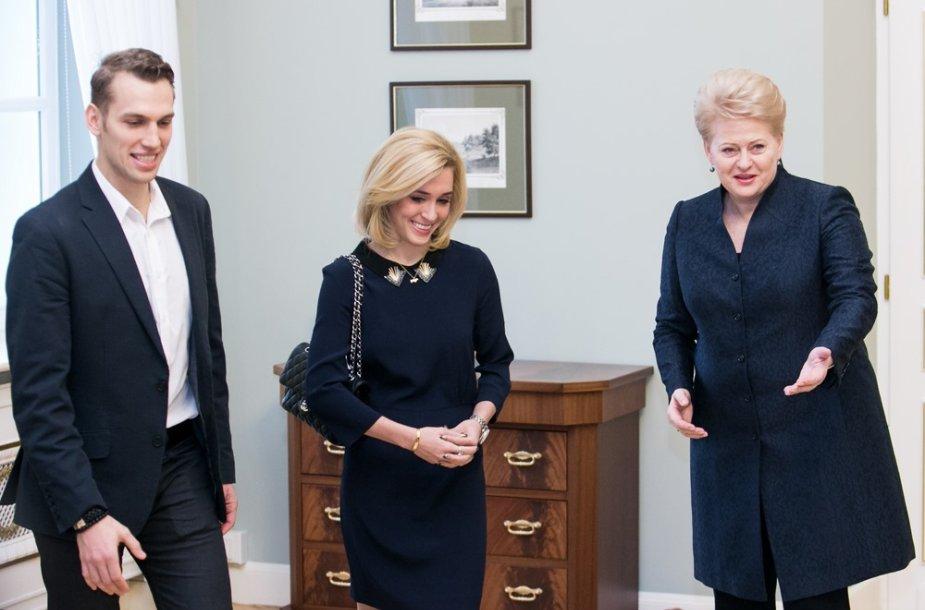 Deividas Stagniūnas, Isabella Tobias ir Dalia Grybauskaitė