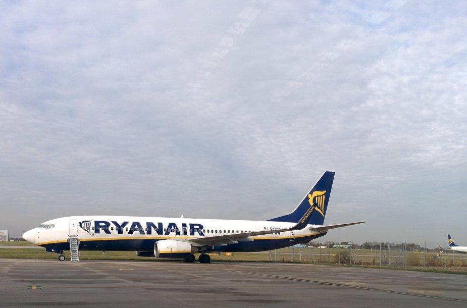 """Ryanair"" bazė Stanstedo oro uoste Londone"