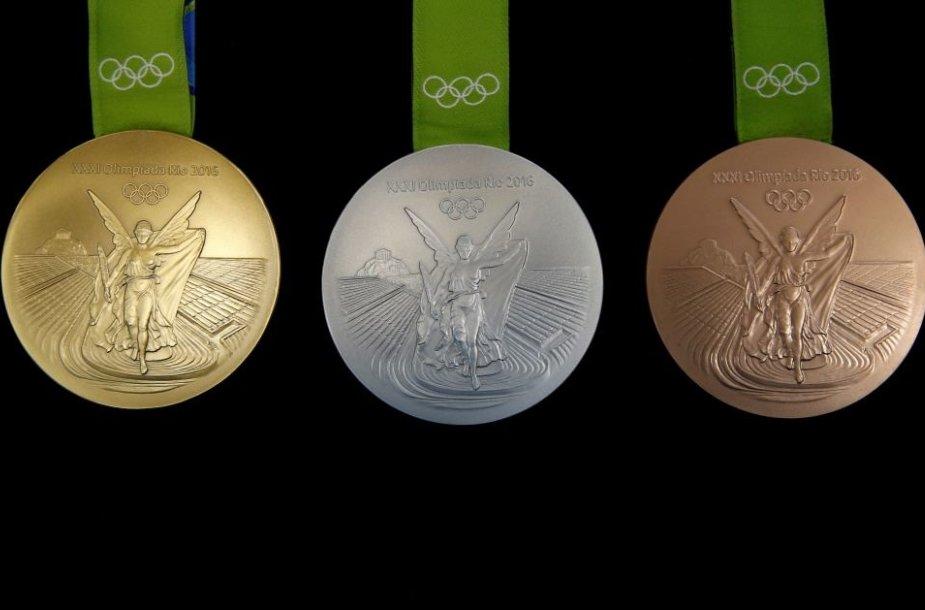 Pristatyti olimpinių žaidynių medaliai