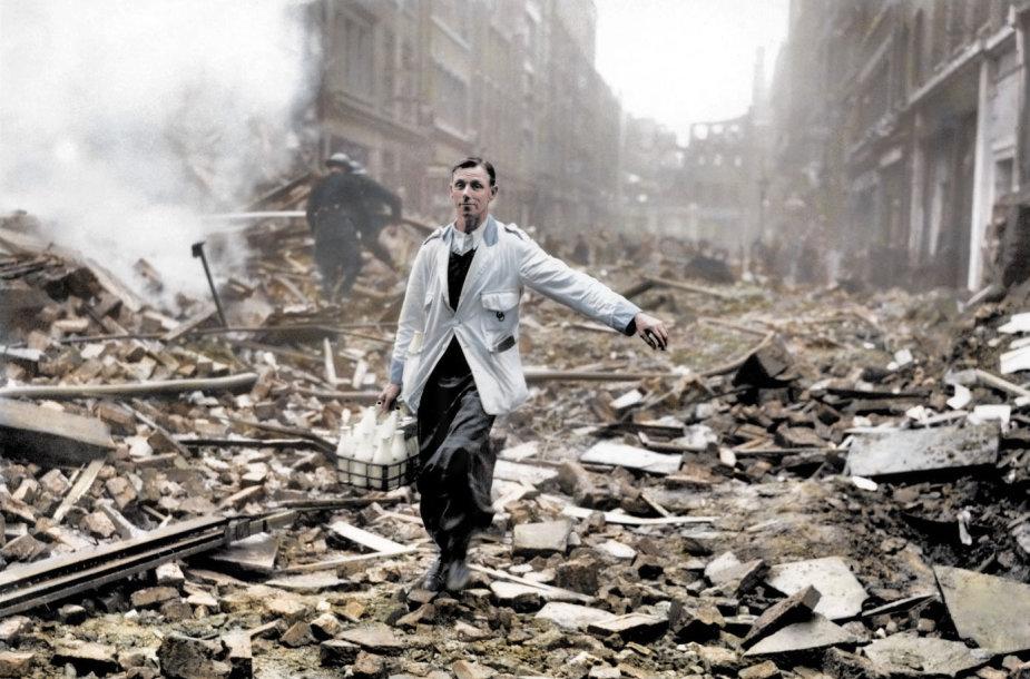 Nepalaužiamieji britai per Londono bombardavimą Antrojo pasaulinio karo metu