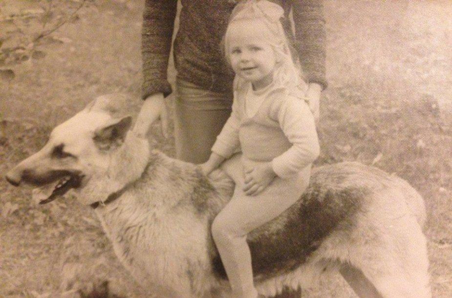 Giedrė Kilčiauskienė vaikystėje