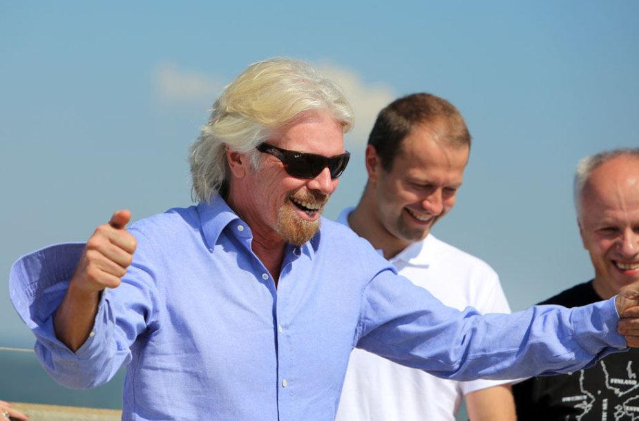 Richardas Bransonas į Lietuvą atvyko šeštadienį