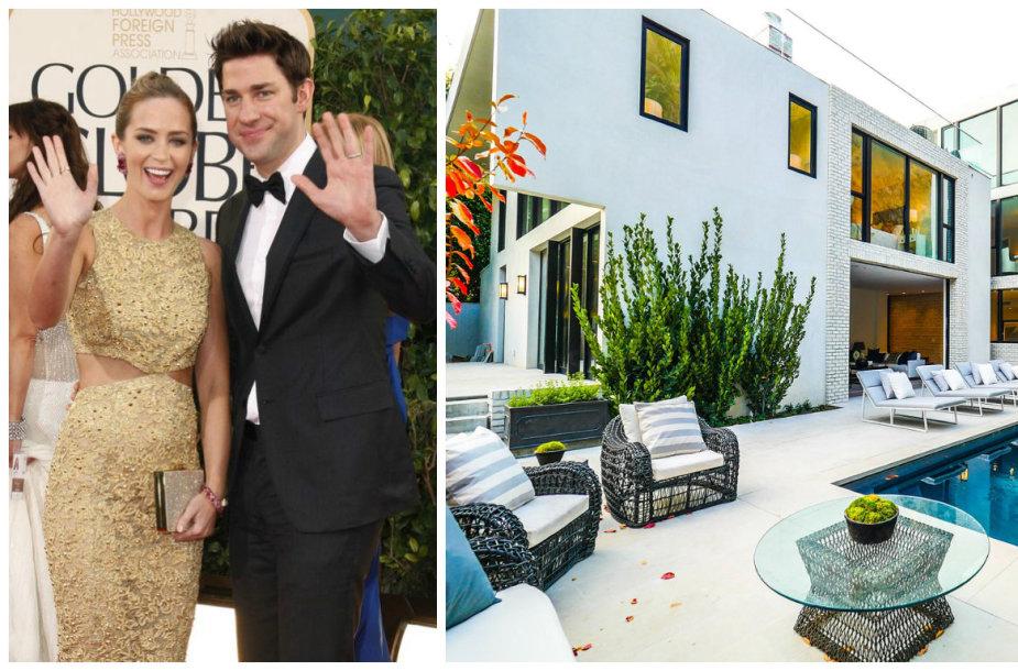 Emily Blunt ir Johnas Krasinski parduoda namus Holivude