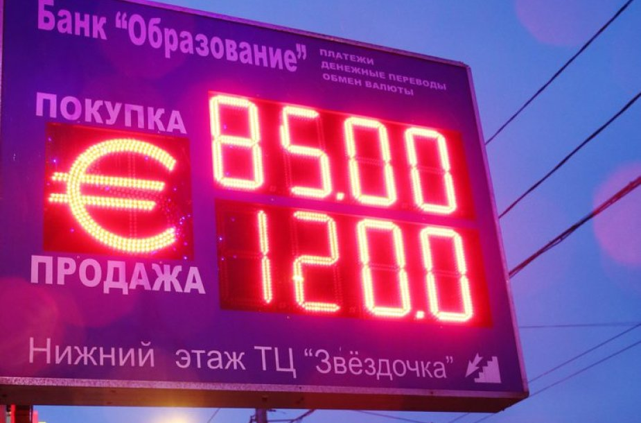 Rublio kursas euro atžvilgiu