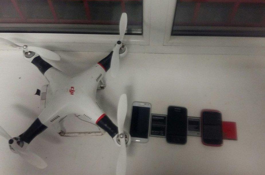 Sulaikytas dronas ir juo gabentas krovinys, nepasiekęs nuteistųjų