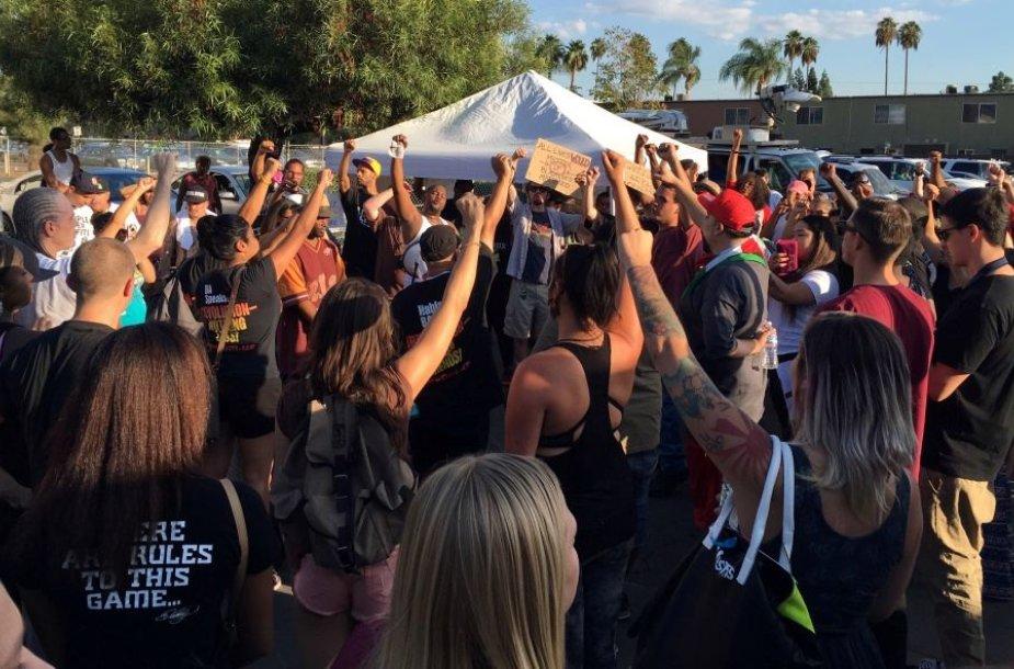 Protestuotojai Kalifornijoje