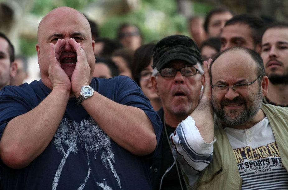Ispanai protestuoja