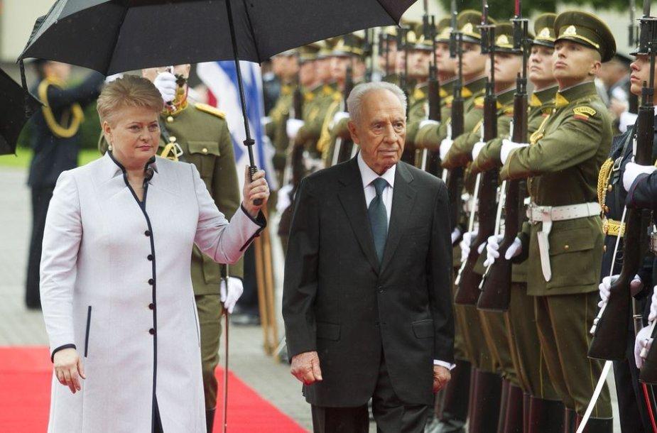 Shimonas Peresas ir Dalia Grybauskaitė