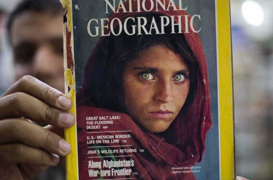 "Sharbat Gulos ant ""National Geographic"" viršelio"