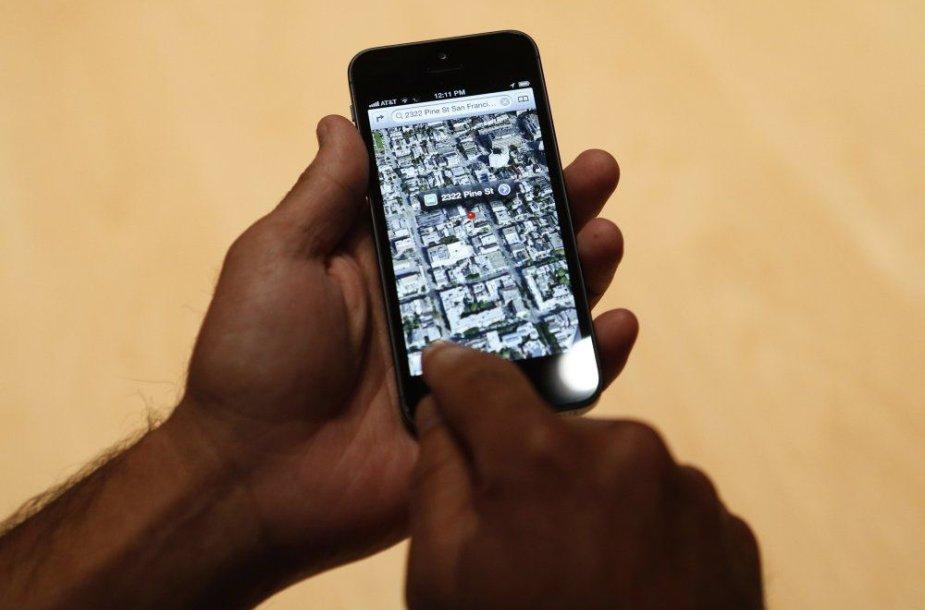 """""""Apple Maps"""" žemėlapiai"""