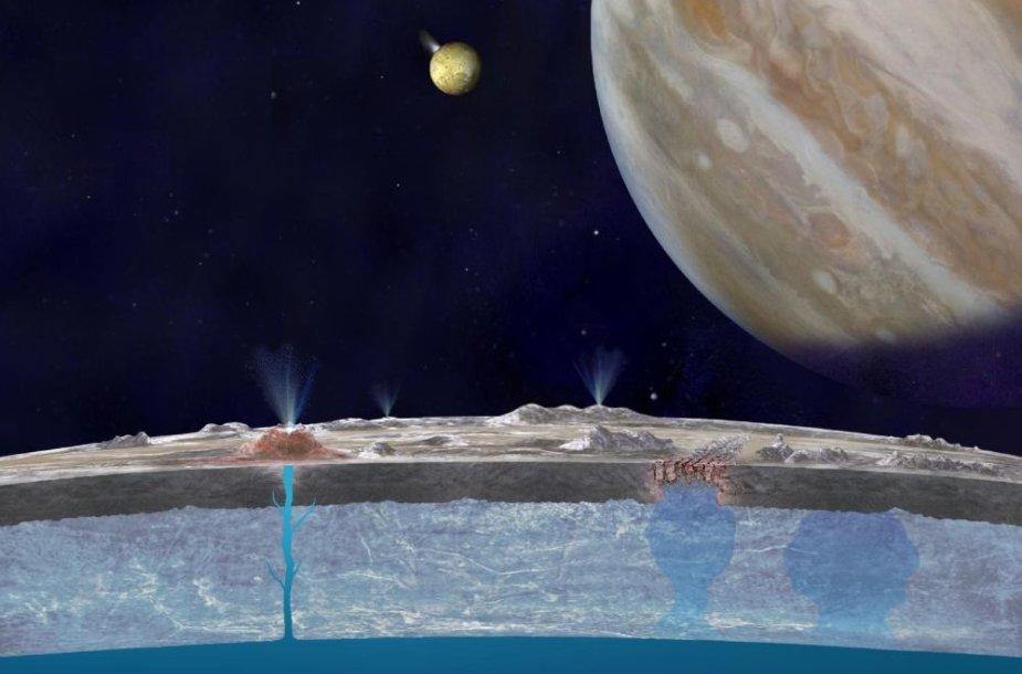 Jupiterio palydovo Europos skerspjūvis menininko akimis