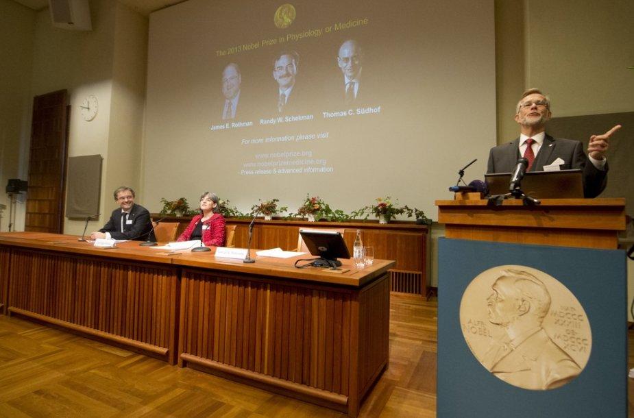 Nobelio medicinos premijos paskelbimo ceremonija