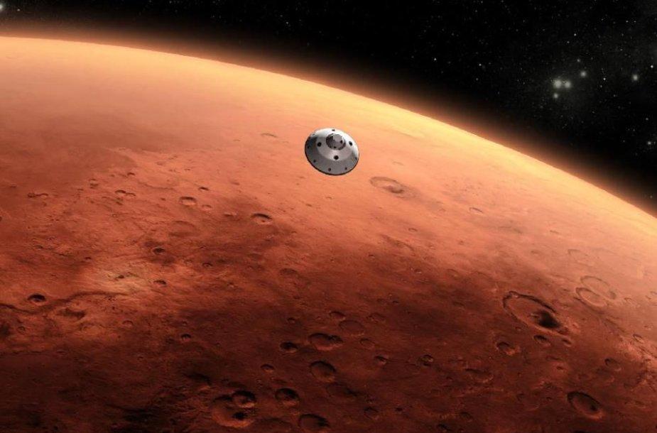 """""""Curiosity"""" pasiekia Marsą"""