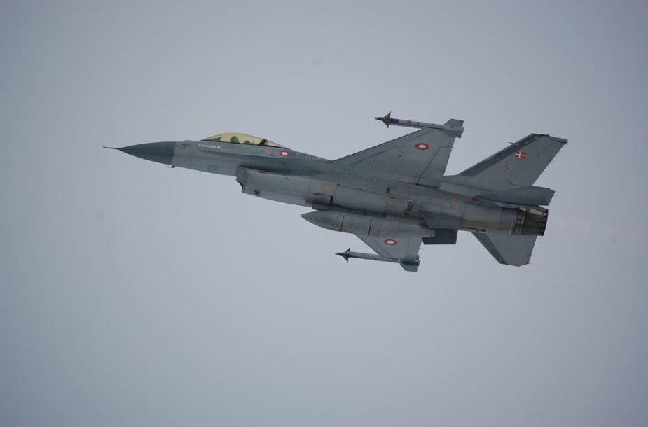 Danijos karinių oro pajėgų naikintuvas F-16