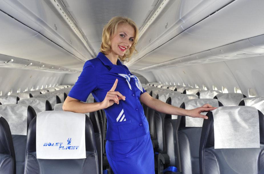 """""""Polet Airlines"""" lėktuve"""