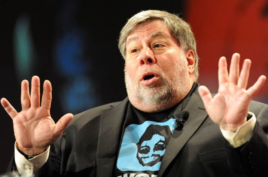 """Vienas iš """"Apple"""" įkūrėjų Steve'as Wozniakas"""