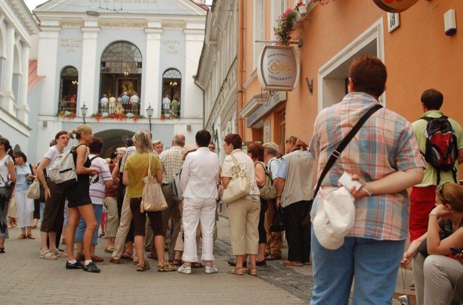 Lenkų turistai Vilniuje