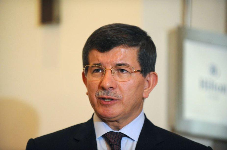 Turkijos užsienio reikalų ministras Ahmetas Davutoglu