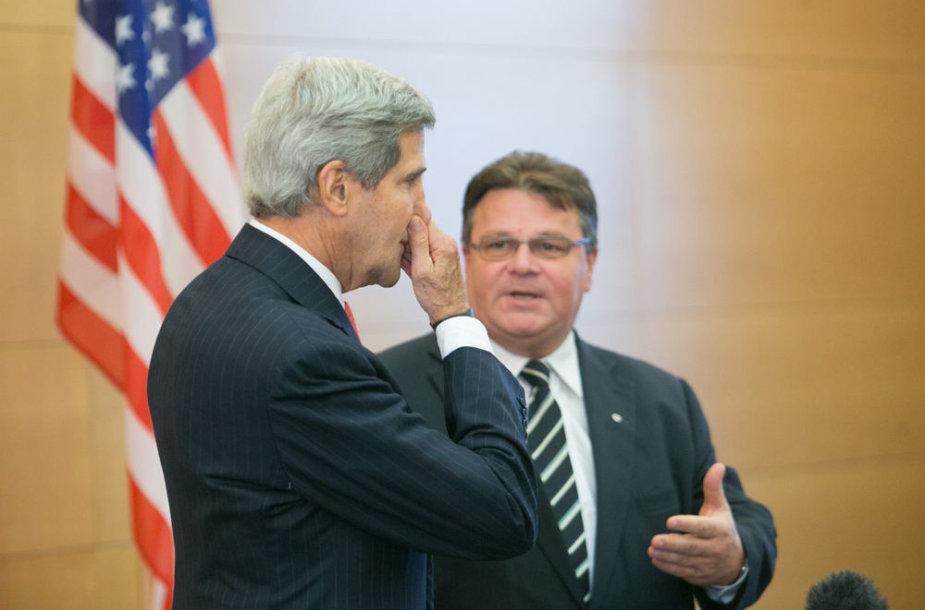 Johnas Kerry ir Linas Linkevičius